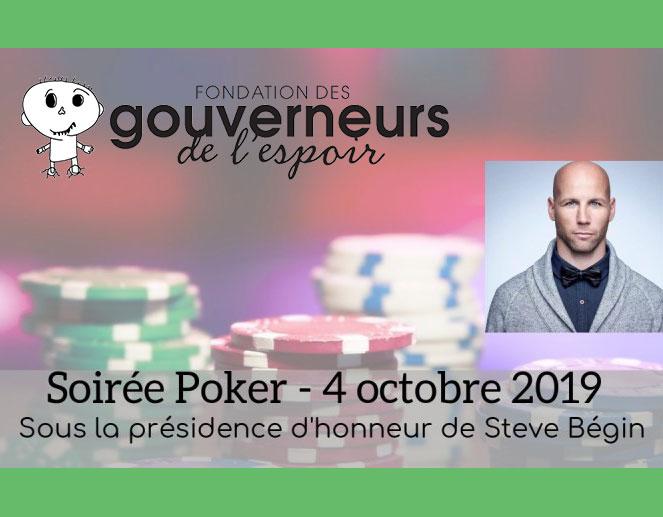 Poker Night for the Gouverneurs de l'espoir Foundation