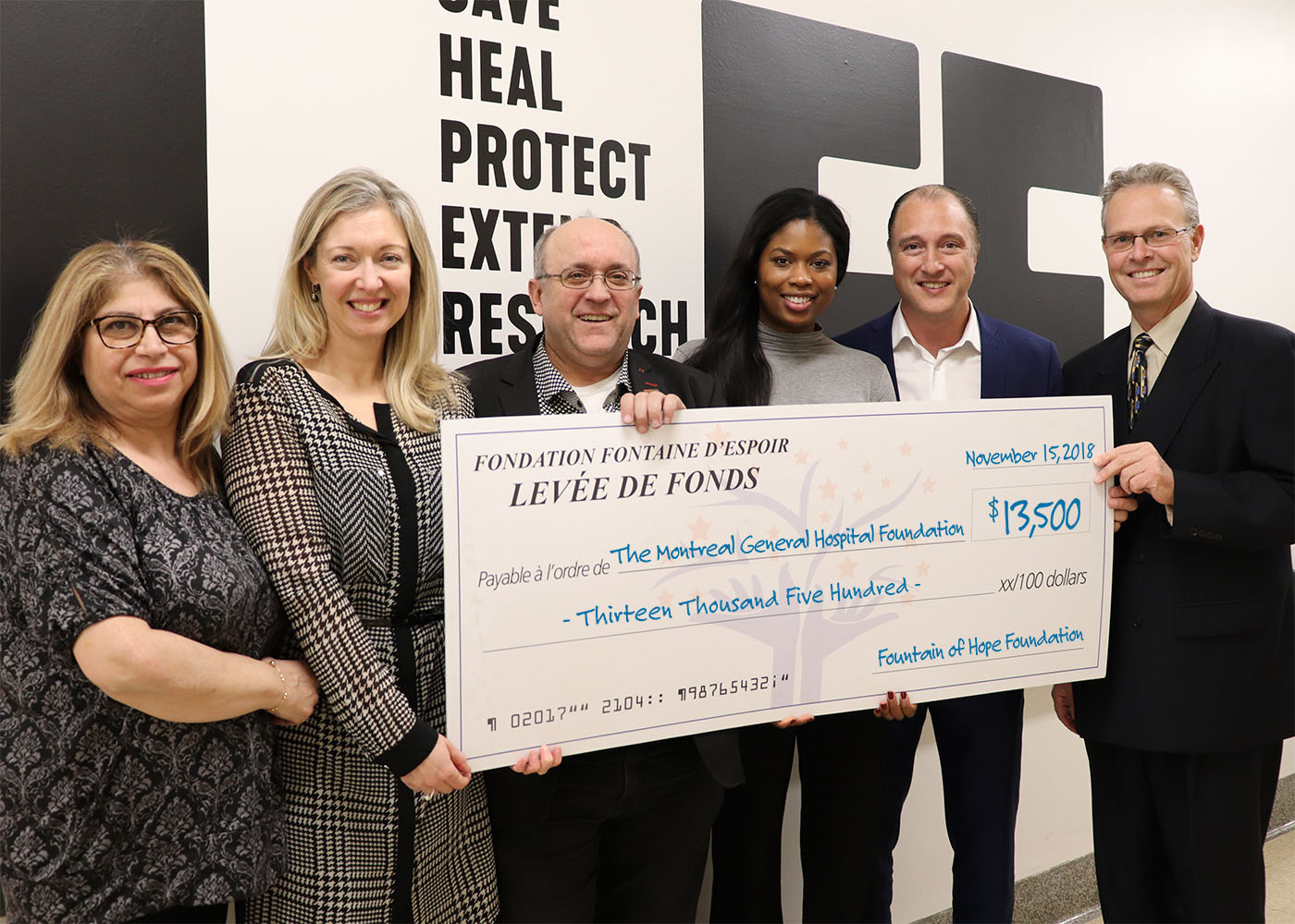 $ 13,500 for the Montreal General Hospital Foundation
