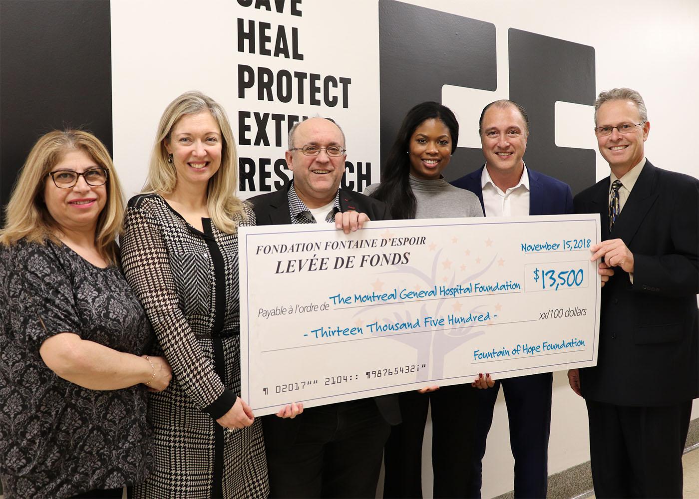 13 500$ pour la Fondation de l'Hôpital Général de Montréal